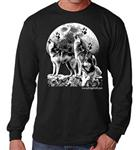 Wolf Long Sleeve T Shirt - L