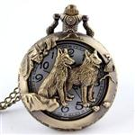 View details for this Two Wolves Necklace Watch