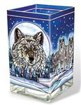 View details for this Wolf Pack Large Candleholder