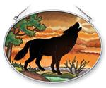 View details for this Wolf Silhouette Suncatcher