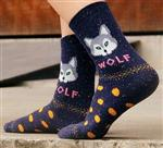 View details for this Wolf Socks - Blue
