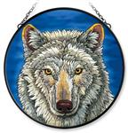 View details for this Wolf Face Window Art, Large