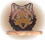 View details for this Wolf Face Rock Art Figurine