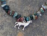 Wolf Multi Color Gemstone Necklace