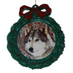 Wolf Wreath Ornament - Chito