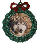 View details for this Wolf Wreath Ornament - Niko Akni
