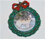 View details for this Wolf Howl Wreath Ornament - Niko