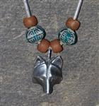 View details for this Wolf Mask Necklace - Ancient Earth