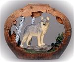 View details for this Wolf Scene Figurine, Small
