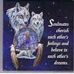 View details for this Soulmates Wolf Magnet