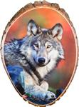 View details for this Wolf Stare Cedar Plaque