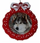 View details for this Wolf Red Wreath Ornament - Chito
