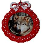 View details for this Wolf Red Wreath Ornament - Ohoyo