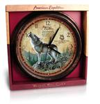 View details for this Gray Wolf Wall Clock