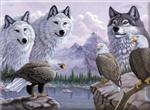 Wolves & Eagles Paint by Number Kit