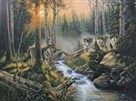 View details for this Wolves Lighted Canvas