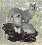 Wolf Couple Figurine