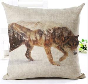 Great new Wolf design on this pillow.