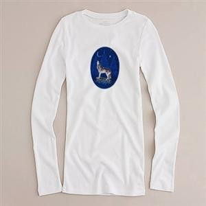 You'll feel like howling in this comfy long sleeve tee