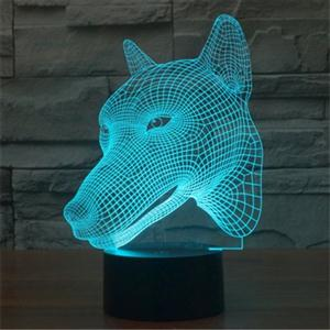 View Details For This Wolf Head USB LED Lamp
