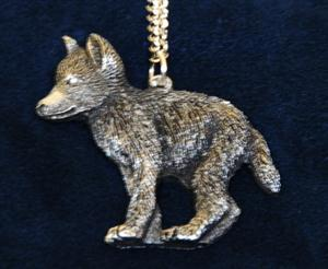 Darling Wolf pup pendant