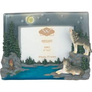 wolf camp fire frame - Wolf Picture Frames