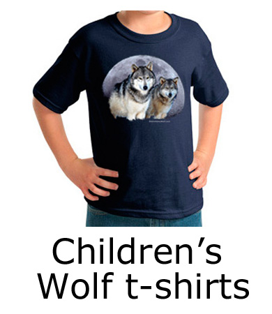 children's wolf t shirts