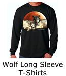 wolf long sleeve t shirts