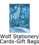 wolf stationery, cards, gift bags