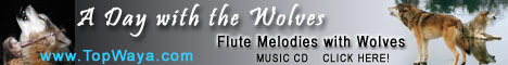 A Day with the Wolves: TopWaya's Flute Melodies with wolves at TopWaya.com