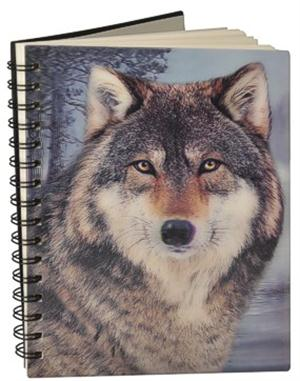 This cool Wolf Notebook has 50 lined pages.