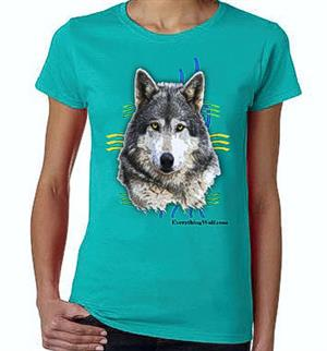 Beautiful Alpha Female Wolf on this new t shirt.