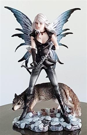 New Wolf and Fairy Figurine.