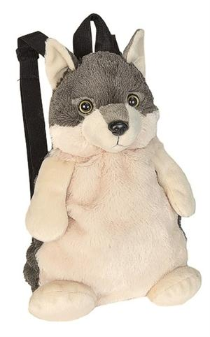 This is a new and very cute wolf backpack.