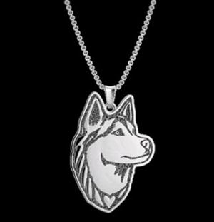 This is a very handsome husky necklace.