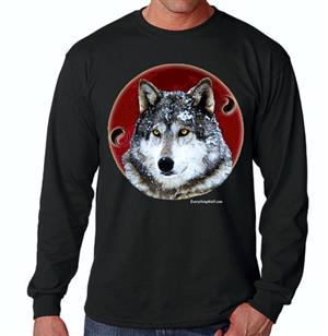 This tee has an awesome Wolf design.