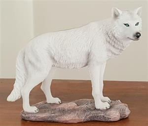 This is a gorgeous White Wolf figurine.