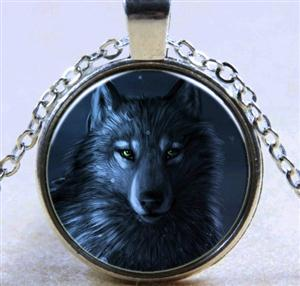 This necklace has a very handsome Wolf graphic.