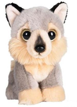 This plush Wolf is just adorable.