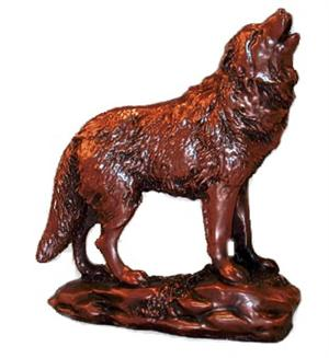 Copper Colored Wolf Figurine