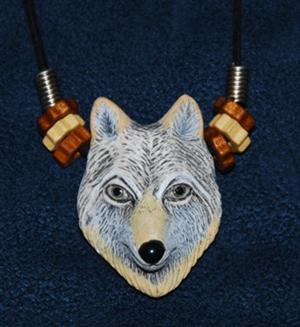 Really nice Gray Wolf necklace