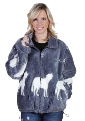 Faux Fur Ultra Pile Wolf Jacket
