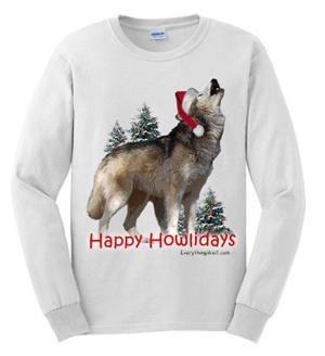 This is a fun Wolf Holiday Shirt!