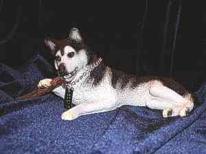 My Dog Figurine - Siberian Husky doing what he ...