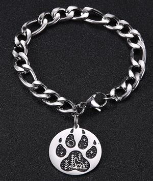 New Wolf bracelet for 2020 has a Wolf inside the pawprint.