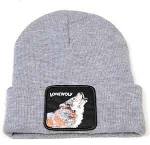 New color for 2021 on this nice knit wolf cap.