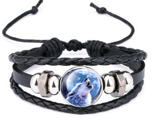 This is a favorite Wolf graphic on this new bracelet