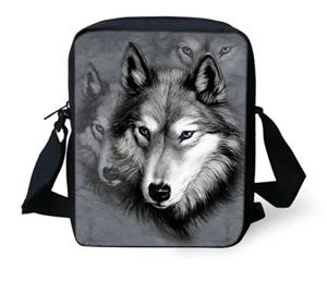 We love the graphic on this Wolf messenger bag.