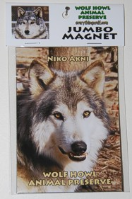 Our adorable Beta Wolf on a magnet.  It makes a nice gift.