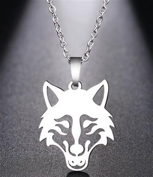 New Stainless Steel Wolf Necklace for 2020.